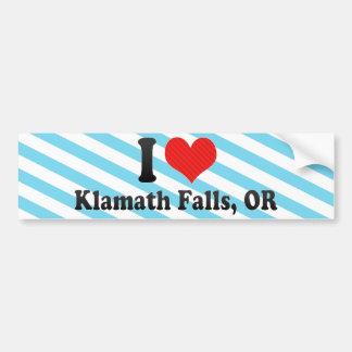 Amo las caídas de Klamath, O Pegatina Para Auto