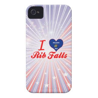 Amo las caídas de la costilla, Wisconsin iPhone 4 Case-Mate Coberturas