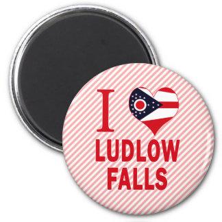 Amo las caídas de Ludlow, Ohio Imanes De Nevera