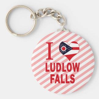 Amo las caídas de Ludlow, Ohio Llavero