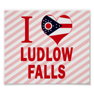 Amo las caídas de Ludlow, Ohio Poster