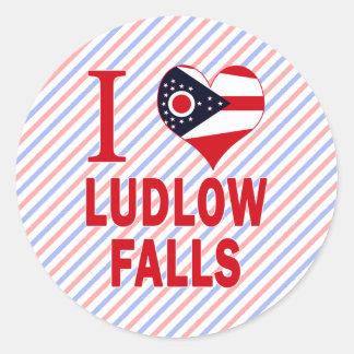 Amo las caídas de Ludlow, Ohio Etiqueta Redonda