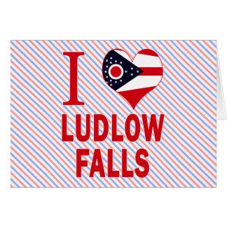 Amo las caídas de Ludlow, Ohio Tarjetas