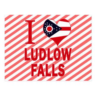 Amo las caídas de Ludlow, Ohio Postales