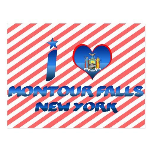 Amo las caídas de Montour, Nueva York Postales