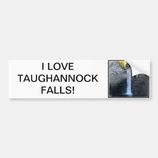 Amo las caídas de Taughannock Etiqueta De Parachoque