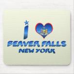 Amo las caídas del castor, Nueva York Alfombrilla De Raton