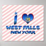 Amo las caídas del oeste, Nueva York Posters
