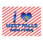 Amo las caídas del oeste, Nueva York Tarjetas Postales