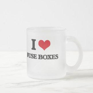 Amo las cajas del fusible taza cristal mate