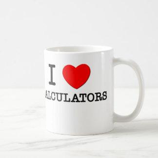Amo las calculadoras tazas de café