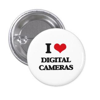 Amo las cámaras digitales chapa redonda 2,5 cm