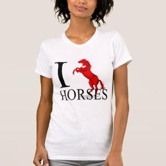 Amo las camisetas de los caballos