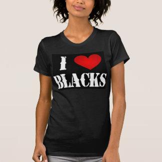 Amo las camisetas de los negros