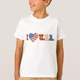 Amo las camisetas de los niños de los E.E.U.U. Remeras