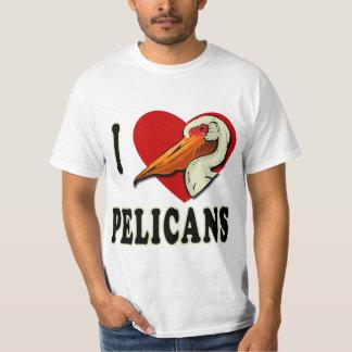 Amo las camisetas de los pelícanos, ropa de los polera