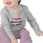 Amo las camisetas del bebé de Grenada