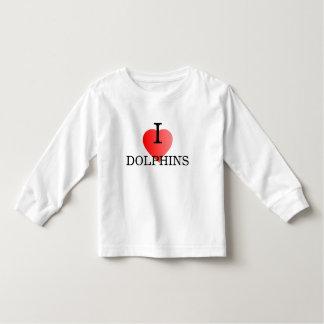 Amo las camisetas del niño de los delfínes playera