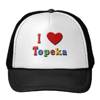Amo las camisetas del TOPEKA, tazas del viaje, mat Gorros