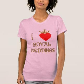 Amo las camisetas reales de los bodas, tazas,