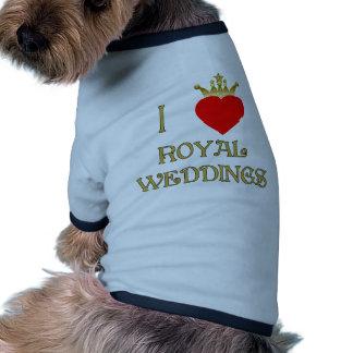 Amo las camisetas reales de los bodas, tazas, rega camisetas mascota