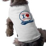 Amo las camisetas sin mangas proveídas de costilla camiseta de mascota