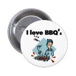 Amo las camisetas y los regalos de BBQs Pins