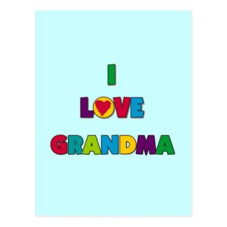 Amo las camisetas y los regalos de la abuela tarjetas postales