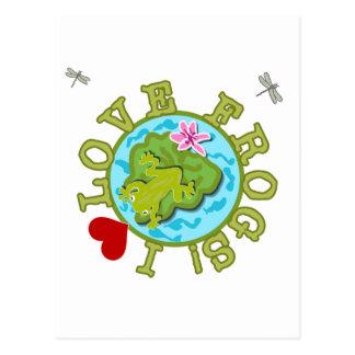 Amo las camisetas y los regalos de las ranas postales