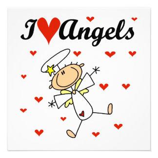 Amo las camisetas y los regalos de los ángeles anuncios personalizados