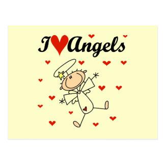 Amo las camisetas y los regalos de los ángeles postales