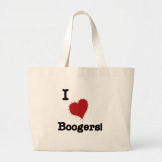 Amo las camisetas y los regalos de los Boogers Bolsas