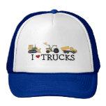 Amo las camisetas y los regalos de los camiones gorro de camionero