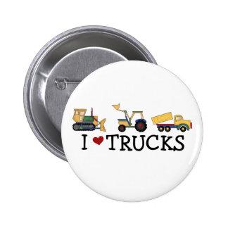 Amo las camisetas y los regalos de los camiones pin redondo 5 cm