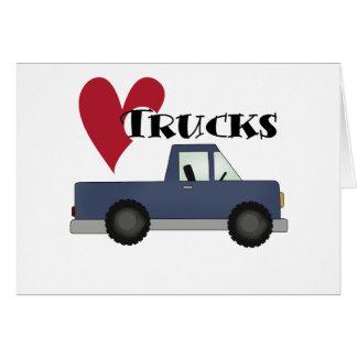 Amo las camisetas y los regalos de los camiones tarjeta de felicitación