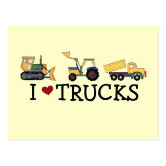 Amo las camisetas y los regalos de los camiones tarjetas postales