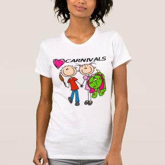 Amo las camisetas y los regalos de los carnavales playeras