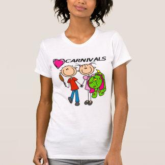 Amo las camisetas y los regalos de los carnavales remera