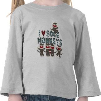 Amo las camisetas y los regalos de los monos del c
