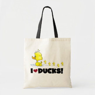 Amo las camisetas y los regalos de los patos bolsas de mano