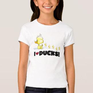 Amo las camisetas y los regalos de los patos playera
