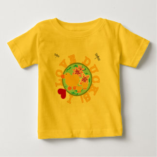 Amo las camisetas y los regalos de los patos playeras