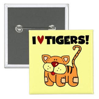 Amo las camisetas y los regalos de los tigres pin