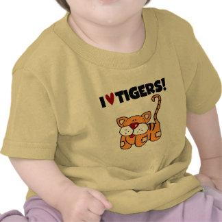 Amo las camisetas y los regalos de los tigres