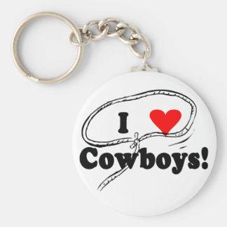 Amo las camisetas y los regalos de los vaqueros llavero personalizado