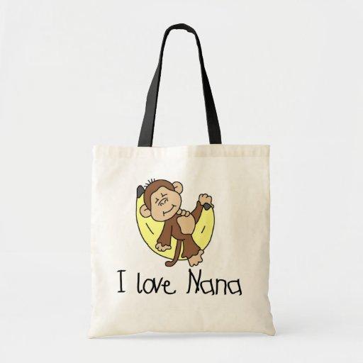 Amo las camisetas y los regalos de Nana Bolsa