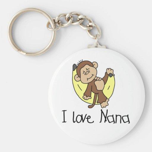 Amo las camisetas y los regalos de Nana Llavero Redondo Tipo Pin