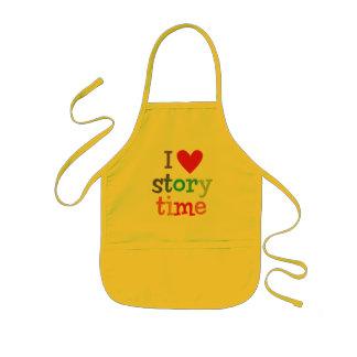 Amo las camisetas y los regalos de Storytime Delantal Infantil