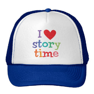 Amo las camisetas y los regalos de Storytime Gorros