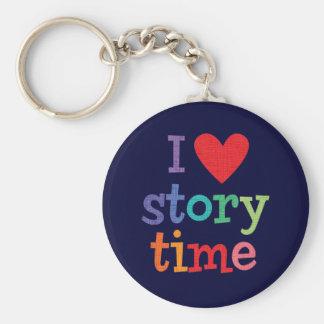 Amo las camisetas y los regalos de Storytime Llavero Redondo Tipo Pin